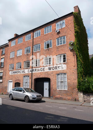 Old Commercial Carriage Works building in Newtown, Powys Wales UK. - Stock Image