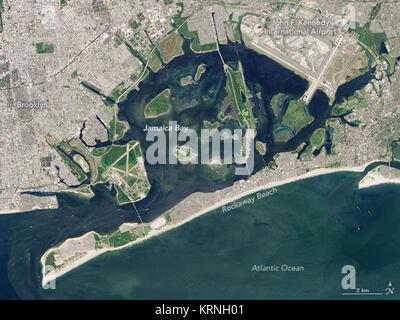 Jamaica Bay Landsat 8 OLI 28annotated29 - Stock Image