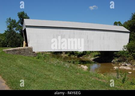 Walcott Covered Bridge in Bracken County Kentucky - Stock Image
