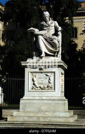 Europe, Germany, Berlin, Humboldt's university, monument of Wilhelm von Humboldt, Humboldt-Universität - Stock Image