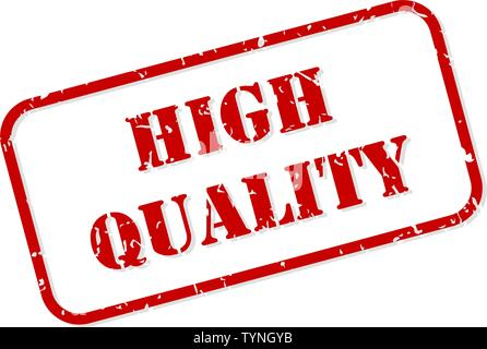 High quality red rubber stamp vector isolated - Stock Image