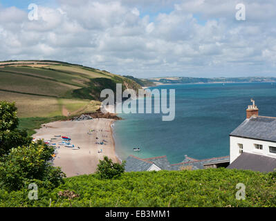 North Hallsands beach in Devon in England UK - Stock Image