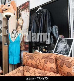 Charity shop in Spain - Stock Image