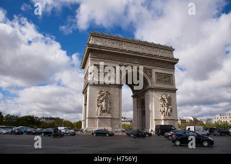 Arc de Triomphe, Paris France - Stock Image