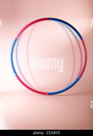 A still life shot of a spinning fitness hula hoop - Stock Image