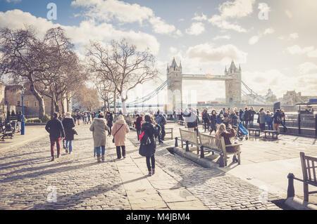 Tower Bridge, London, United Kingdom - Stock Image