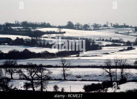 Epping Essex England UK winter landscape. 1985 - Stock Image