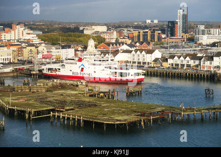 Red Funnel ferry terminal in Southampton, UK. - Stock Image