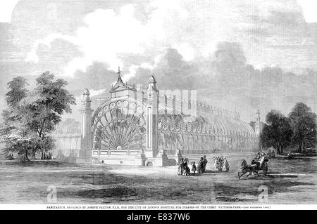 Sanitarium Designed by Joseph Paxton F L S for City of London Hospital for the diseases of the chest Victoria park - Stock Image