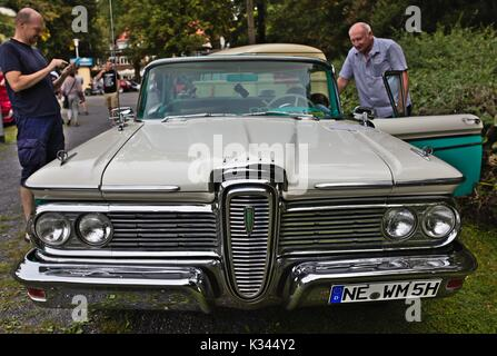 Edsel Ranger on small classic car show, Germany - Stock Image