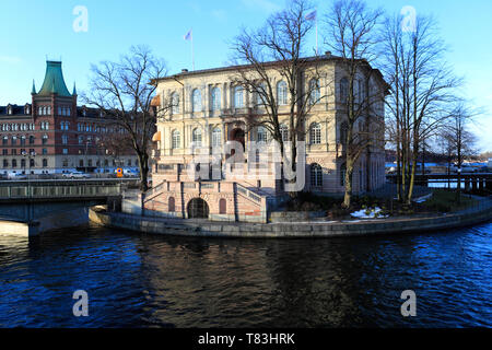 View of Strömsborg or Streams castle, Stockholm City, Sweden, Europe - Stock Image