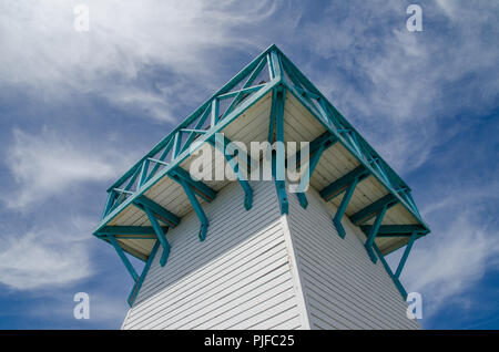 Lighthouse at Summerside seaside market. - Stock Image