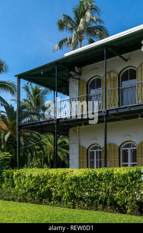 Ernest Hemingway's house and museum in Key West, Florida, USA - Stock Image