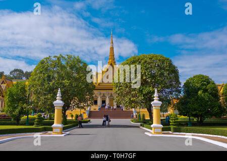 The Royal Palace, Phnom Penh, Cambodia, Asia - Stock Image