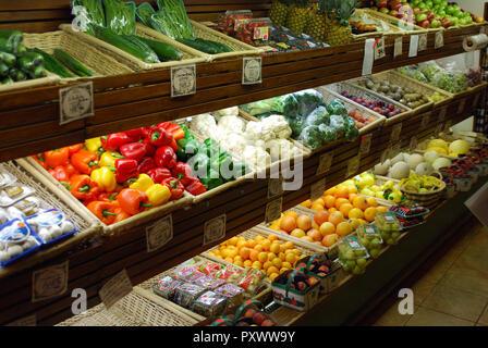Healthy Food Market in Quebec city Canada - Stock Image