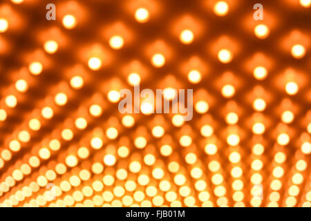 Casino lights defocused out of focus background image - Stock Image