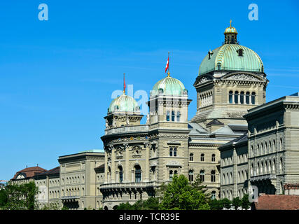 Federal Palace, housing the Swiss government and the Swiss parliament, Bern, Switzerland - Stock Image