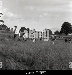 1960s, historical, adventure scouts moving camp - Stock Image