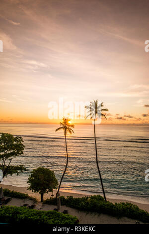 Anse Forbons beach at the Hilton DoubleTree Resort and Spa, Mahe, Republic of Seychelles, Indian Ocean. - Stock Image