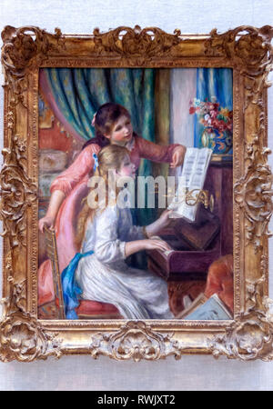 Two Young Girls at the Piano, Auguste Renoir , The Metropolitan Museum of Art, Manhattan, New York USA - Stock Image