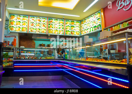 Bayram, kebab restaurant, Bahnhofsviertel, Frankfurt am Main, Hesse, Germany - Stock Image
