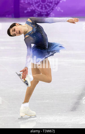 Evgenia Medvedeva (OAR) competing in the Figure Skating - Ladies' Short at the Olympic Winter Games PyeongChang 2018 - Stock Image