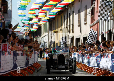 Ospitaletto, Italy. 21th, May 2017.  Crew composed by Vanni Curridor  and Laurent Meyers (NL) with their model car, - Stock Image