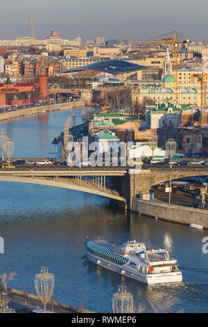 Cityscape, Kremlin, Moskva river, Moscow, Russia - Stock Image