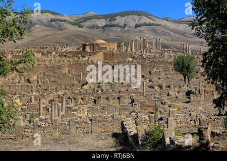 Ruins of ancient city Cuicul, Djemila, Setif Province, Algeria - Stock Image