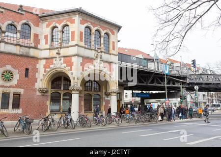 Germany, Berlin. Exterior of Schlesisches Tor Train Station. Credit as: Wendy Kaveney / Jaynes Gallery / DanitaDelimont.com - Stock Image