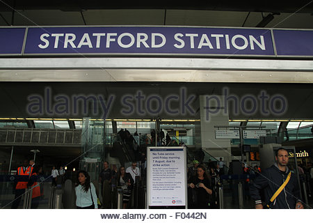 London, UK. 6th Aug, 2015.  Stratford Station An extra 250 buses, including the older routemaster models, were added - Stock Image