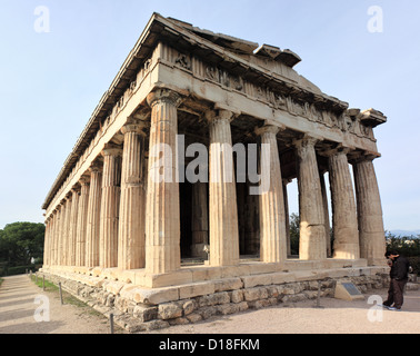 Temple of Hephaestus, Athens, Greece - Stock Image