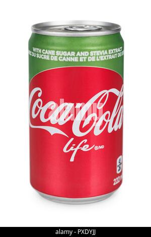 Coca Cola Stevia, Coca Cola Can - Stock Image
