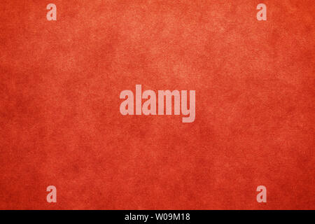 Japanese vintage red color paper texture or grunge background - Stock Image