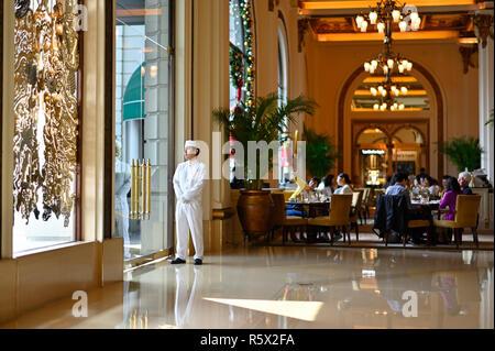 Afternoon High Tea at the Peninsula Hotel, Hong Kong CN - Stock Image