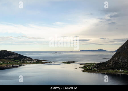 The view over the fjord near Ålesund, Norway - Stock Image