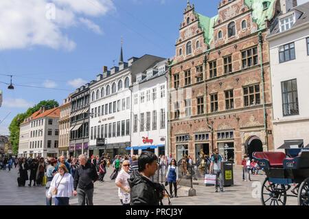Shopping precinct in Copenhagen, Denmark - Stock Image
