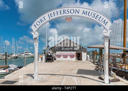 Fort Jefferson Museum, Marina Key West, Florida, USA - Stock Image