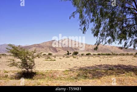 Desert Landscape near Nazca, Peru - Stock Image