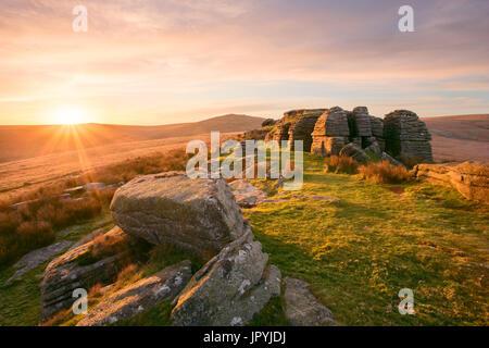 Oke Tor Dartmoor National Park Devon Uk - Stock Image