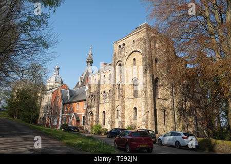 St. Michael's Abbey house and Church, a Benedictine monastery in Farnborough, Hampshire, UK - Stock Image