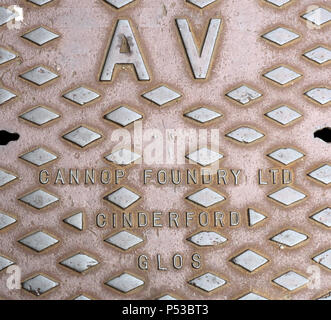 Steel Grid AV - Cannop Foundry Ltd, Cinderford, Glos - Stock Image