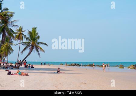 Beach, Hua Hin, Thailand - Stock Image