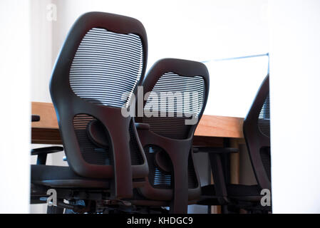 Office chairs in conference room - Stock Image