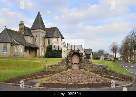 Quarrier's Village is a small settlement in the civil parish of Kilmacolm and the historic county of Renfrewshire, Scotland, UK, Europe - Stock Image