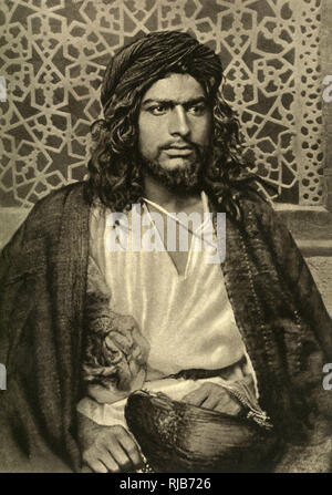 A young dervish of the Sudan area (then part of the British Empire), East Central Africa. - Stock Image