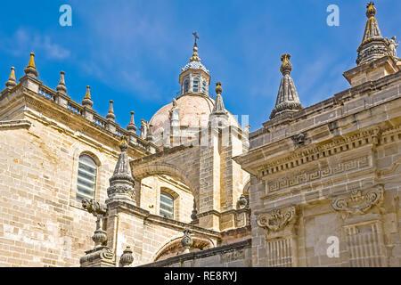 Cathedral de San Salvador Jerez de la Frontera Andalusia Spain - Stock Image