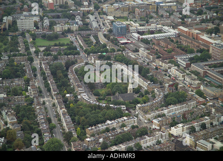 Aerial view of Thornhill Square in Islington, North London - Stock Image