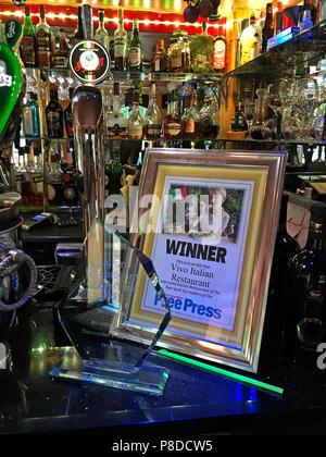 Vivo Italian restaurant, 11 Bennetthorpe, Doncaster, South Yorkshire, England, UK,  DN2 6AA - Doncaster Free Press Winner - Stock Image