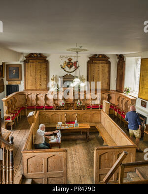 c this room previously used as the courthouse. - Stock Image